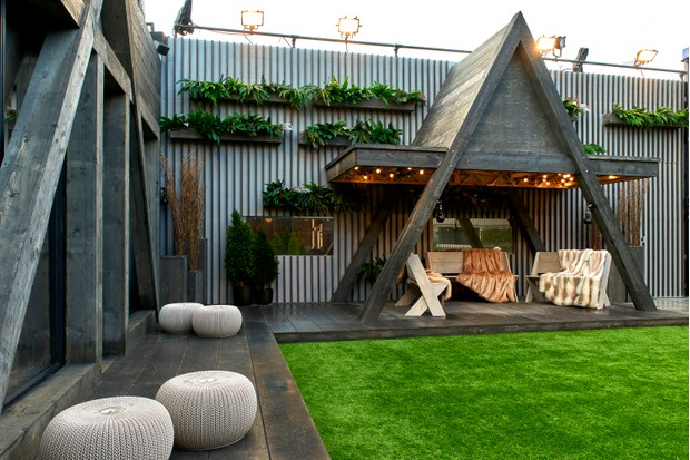 Celebrity Big Brother Jan 2018 House - Outdoor seating area