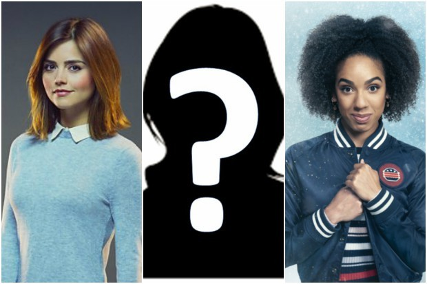 Jenna Coleman, Pearl Mackie and a mysterious figure (BBC, HF)