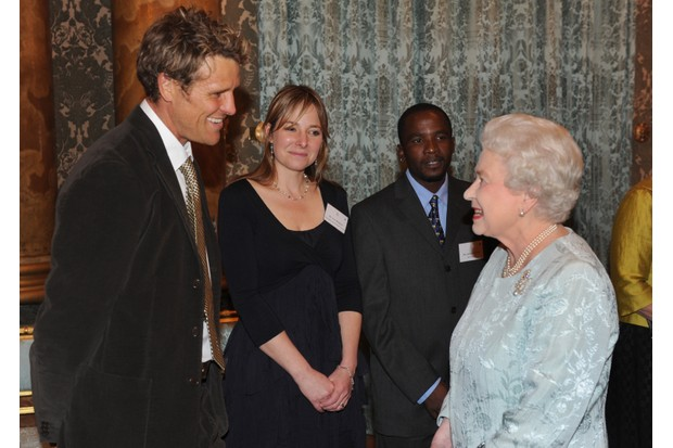 Alice Roberts meets the Queen and Duke of Edinburgh in 2011 (Getty, TL)