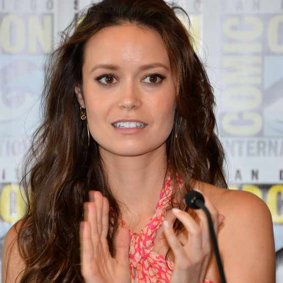 "SAN DIEGO, CA - JULY 13:  Summer Glau speaks onstage at the ""Firefly"" 10 Year Anniversary Reunion Press Conference during Comic-Con International 2012 held at the Hilton San Diego Bayfront Hotel on July 13, 2012 in San Diego, California.  (Photo by Frazer Harrison/Getty Images)"