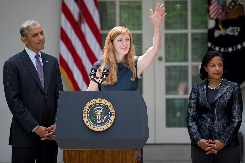 Barack Obama and Samantha Power (Getty, EH)