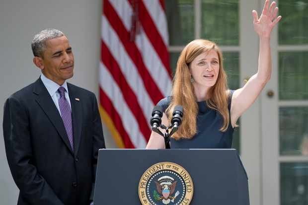 Barack Obama and Samantha Power (Getty, EH)