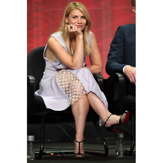 "BEVERLY HILLS, CA - JULY 29:  Actress Claire Danes of the TV show ""Homeland"" attends the Television Critic Association's Summer Press Tour - CBS/CW/Showtime panels held at The Beverly Hilton Hotel on July 29, 2013 in Beverly Hills, California.  (Photo by Tommaso Boddi/WireImage)"