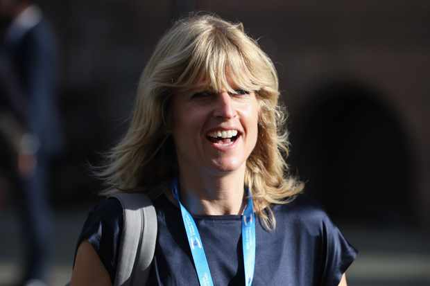 "MANCHESTER, ENGLAND - OCTOBER 06:  Rachel Johnson, the sister of London mayor Boris Johnson arrives on the third day of the Conservative party conference on October 6, 2015 in Manchester, England. Home Secretary Theresa May addressed delegates on day three of the Conservative Party conference at Manchester Central  and warned that it is ""impossible to build a cohesive society"" and the UK needs to have an immigration limit.  (Photo by Dan Kitwood/Getty Images) Getty, TL"