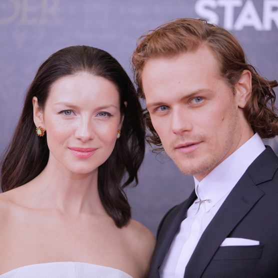 NEW YORK, NEW YORK - APRIL 04:  (L-R) Outlander actors Caitriona Balfe (Claire Randall) and Sam Heughan (Jamie Fraser) attend the Season Two World Premiere at the American Museum of Natural History on April 4, 2016 in New York City.  (Photo by Randy Brooke/FilmMagic)