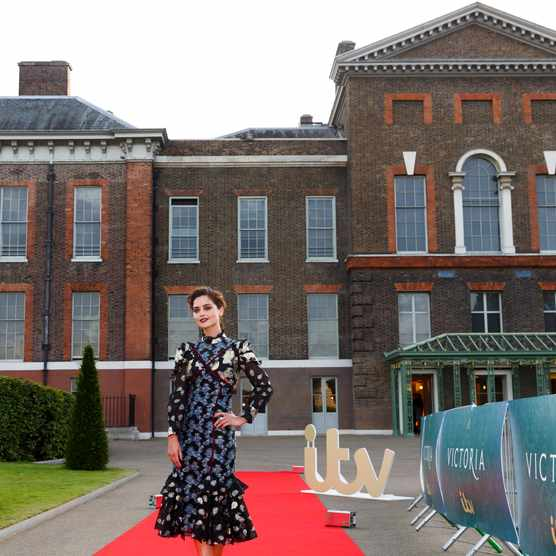 LONDON, ENGLAND - AUGUST 11:  Jenna Coleman arrives for the premiere screening of ITV's Victoria at The Orangery on August 11, 2016 in London, England.  (Photo by Tristan Fewings/Getty Images)