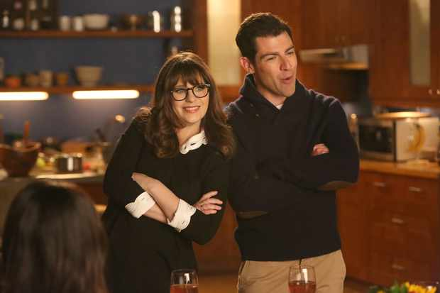 "NEW GIRL:  L-R:  Zooey Deschanel and Max Greenfield in the ""Rumspringa"" episode of NEW GIRL airing Tuesday, Feb. 21 (8:00-8:31 PM ET/PT) on FOX. (Photo by FOX via Getty Images)"