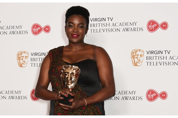 Wunmi Mosaku with her Bafta Award for Damilola, Our Loved Boy (Getty, JG)