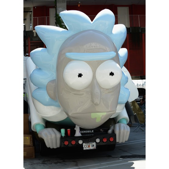 """LOS ANGELES, CA - JULY 28:  The Rick Mobile on display at Adult Swim's """"Rick And Morty"""" Mobile Pop-Up Shop held at a Shop Called Quest on July 28, 2017 in Los Angeles, California.  (Photo by Albert L. Ortega/WireImage)"""