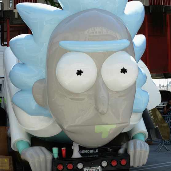 "LOS ANGELES, CA - JULY 28:  The Rick Mobile on display at Adult Swim's ""Rick And Morty"" Mobile Pop-Up Shop held at a Shop Called Quest on July 28, 2017 in Los Angeles, California.  (Photo by Albert L. Ortega/WireImage)"