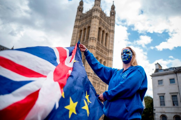 A Pro-European Union protester (Getty, EH)