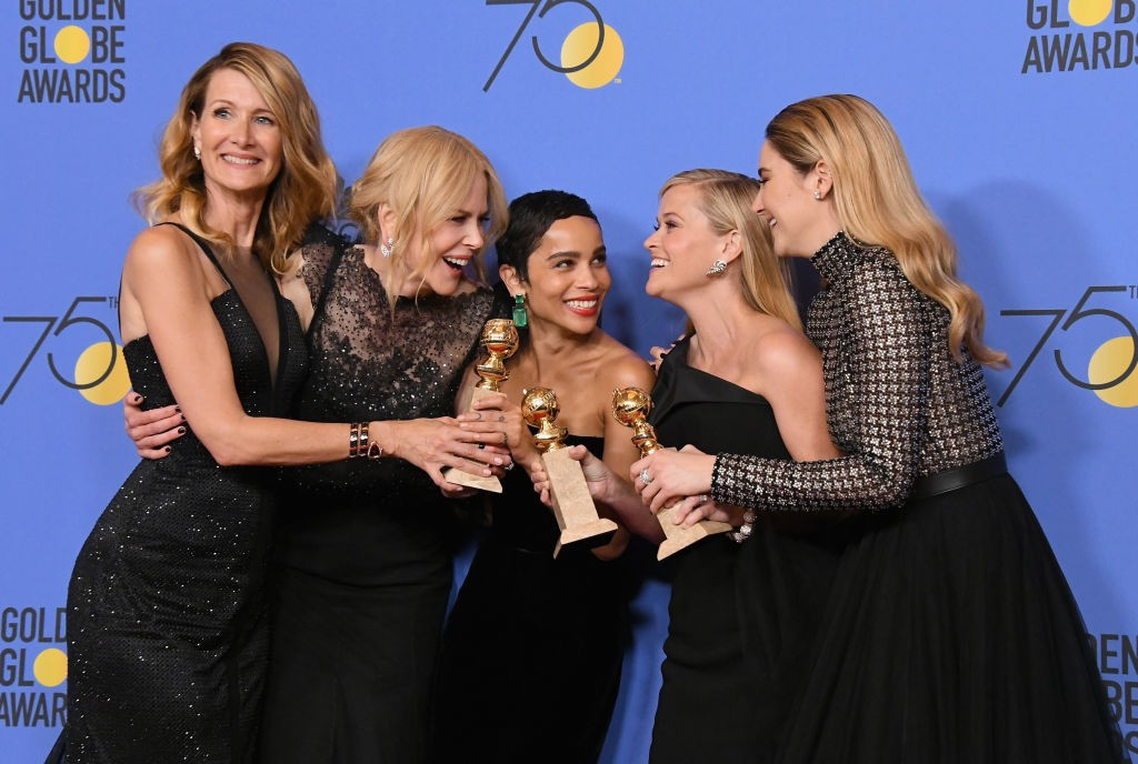 poses in the press room during The 75th Annual Golden Globe Awards at The Beverly Hilton Hotel on January 7, 2018 in Beverly Hills, California. (Getty, BA)