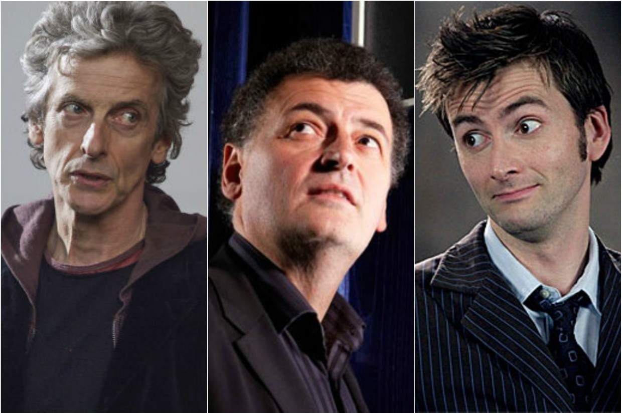 Moffat, Capaldi and Tennant - Doctor Who