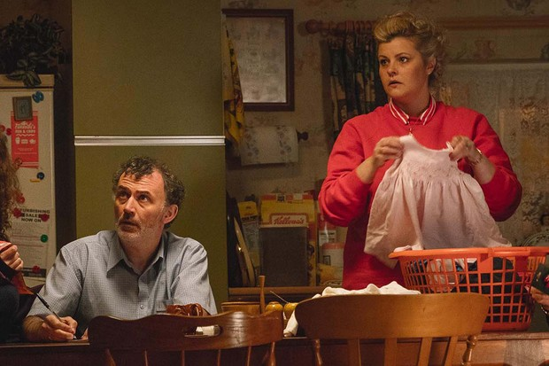 Mary (Tara O'Neill) and Gerry (Tommy Tiernan) - Derry Girls (Channel 4, SD)