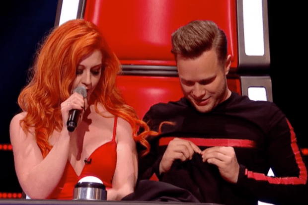Olly Murs and Ivy Paige on The Voice UK 2018