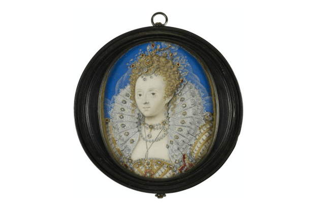 Queen Elizabeth I by Nicholas Hilliard c1595—1600 (Royal Collection Trust, EH)
