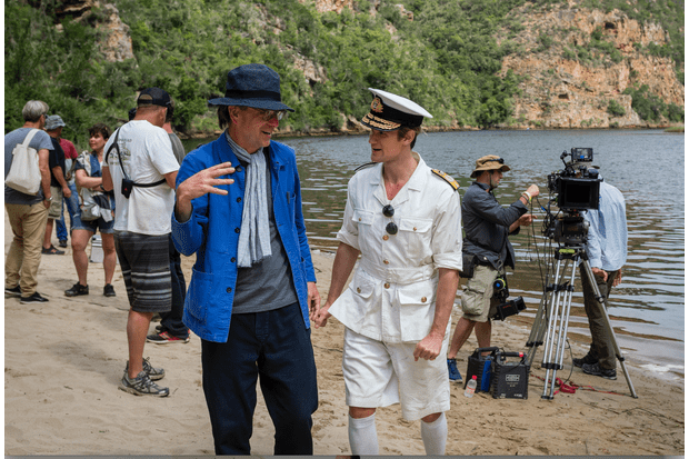 The Crown director Philip Martin with Matt Smith on set in South Africa