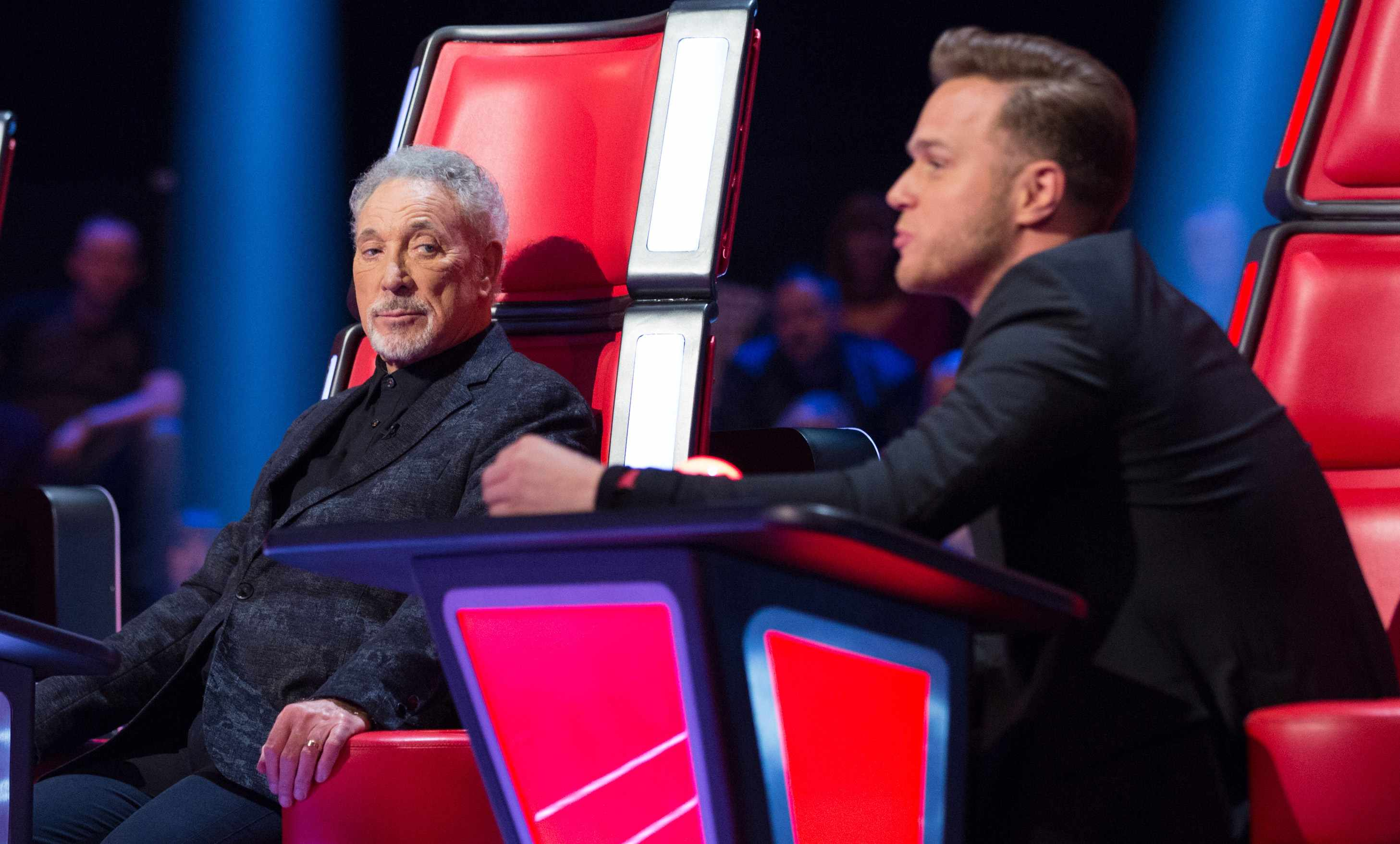 Tom Jones and Olly Murs on The Voice UK