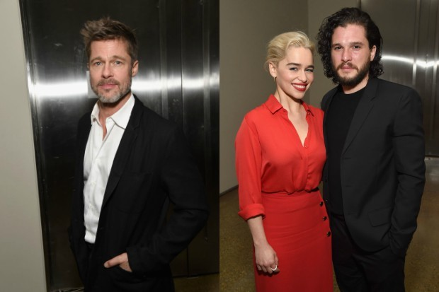 Brad Pitt, Emilia Clarke and Kit Harington (Getty, HF)