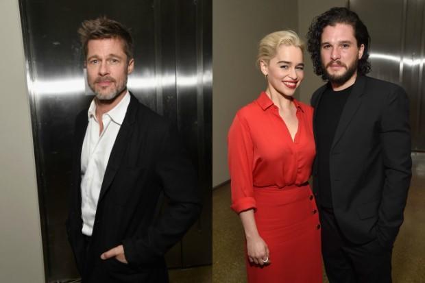 Brad Pitt, Emilia Clarke and Kit Harington (Getty, HF)