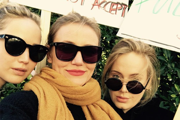 Jennifer Lawrence, Cameron Diaz and Adele, Instagram, SL