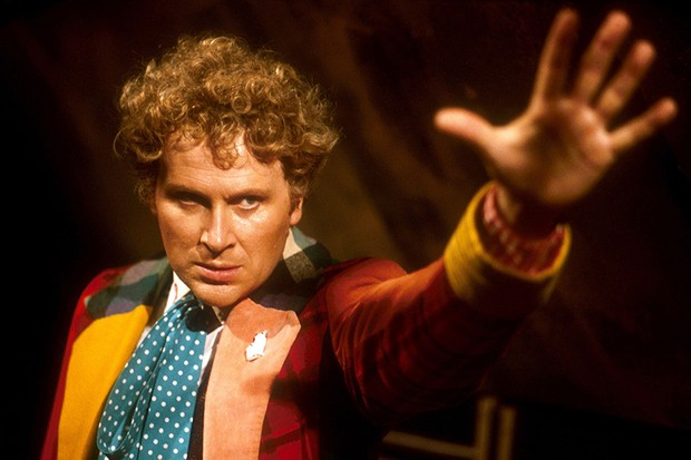 Colin Baker as the Sixth Doctor (BBC, HF)
