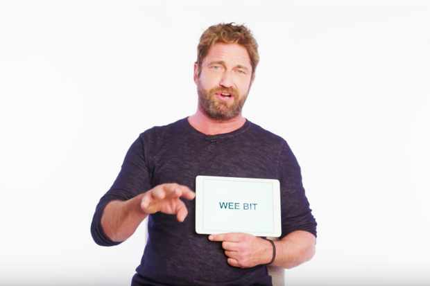 Viral video: Gerard Butler teaches you Scottish slang - Radio Times