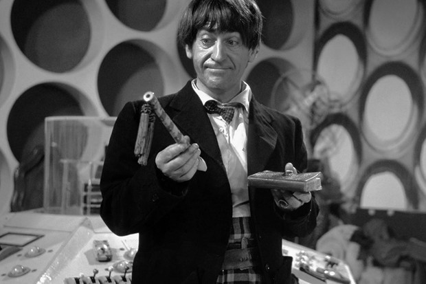 Patrick Troughton as the Second Doctor (BBC, HF)
