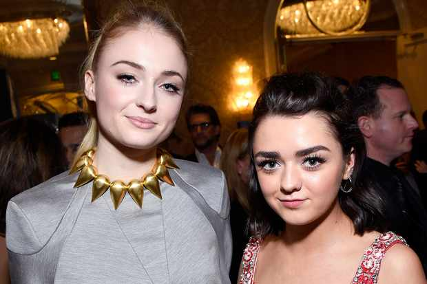 Sophie Turner and Maisie Williams, Getty, SL