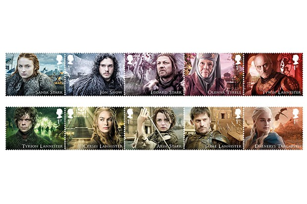 Game of Thrones stamps, Royal Mail, SL