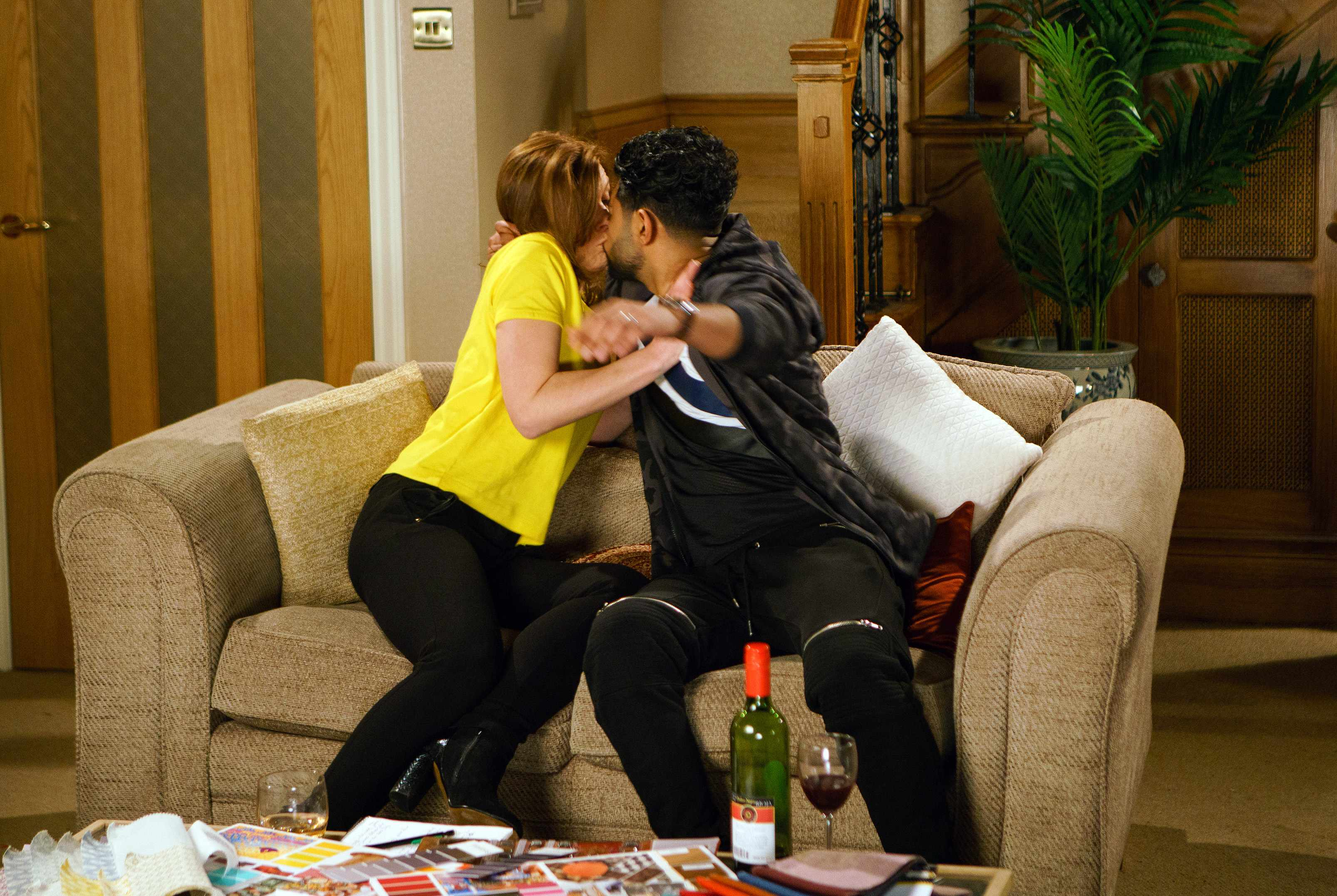 FROM ITV   STRICT EMBARGO  Print media - No Use Before Tuesday 20th February 2018 Online Media -  No Use Before 0700hrs Tuesday 20th February 2018  Coronation Street - Ep 9393  Friday 2nd March 2018 - 1st Ep  Zeedan Nazir [QASIM AHKTAR] confides in Leanne Tilsley [JANE DANSON] that he still loves Rana, Leanne tells him he will find love again and seeing how upset he is agrees to stay for dinner. Concerned that Zeedan is continuing to drink she is shocked when he makes a pass at her!  Photographer - David Crook  Picture contact - david.crook@itv.com  This photograph is (C) ITV Plc and can only be reproduced for editorial purposes directly in connection with the programme or event mentioned above, or ITV plc. Once made available by ITV plc Picture Desk, this photograph can be reproduced once only up until the transmission [TX] date and no reproduction fee will be charged. Any subsequent usage may incur a fee. This photograph must not be manipulated [excluding basic cropping] in a manner which alters the visual appearance of the person photographed deemed detrimental or inappropriate by ITV plc Picture Desk. This photograph must not be syndicated to any other company, publication or website, or permanently archived, without the express written permission of ITV Plc Picture Desk. Full Terms and conditions are available on the website www.itvpictures.com