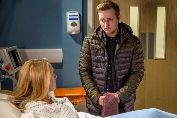 FROM ITV   STRICT EMBARGO  Print media - No Use Before Tuesday 30 January  2018 Online Media -  No Use Before 0700hrs Tuesday 30 January 2018  Emmerdale - Ep 8061  Monday 5 February 2018   Rebecca White [EMILY HEAD] finally wakes up from the coma and Lachlan White's [THOMAS ATKINSON] terrified the truth will come out.   Picture contact - david.crook@itv.com  Photographer - Amy Brammall  This photograph is (C) ITV Plc and can only be reproduced for editorial purposes directly in connection with the programme or event mentioned above, or ITV plc. Once made available by ITV plc Picture Desk, this photograph can be reproduced once only up until the transmission [TX] date and no reproduction fee will be charged. Any subsequent usage may incur a fee. This photograph must not be manipulated [excluding basic cropping] in a manner which alters the visual appearance of the person photographed deemed detrimental or inappropriate by ITV plc Picture Desk. This photograph must not be syndicated to any other company, publication or website, or permanently archived, without the express written permission of ITV Plc Picture Desk. Full Terms and conditions are available on the website www.itvpictures.com