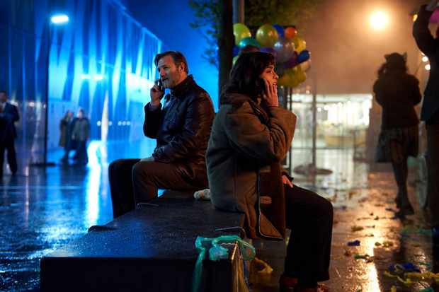 Mandeep Dhillon and David Morrissey in The City and the City (BBC, EH)