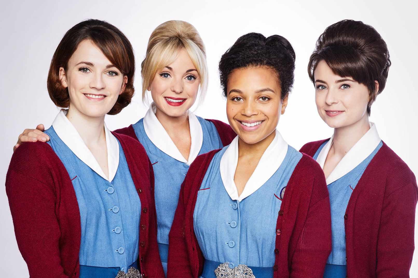 Nurse Barbara Hereward (CHARLOTTE RITCHIE), Nurse Trixie Franklin (HELEN GEORGE), Nurse Lucille Anderson  (LEONIE ELLIOTT), Nurse Valerie Dyer (JENNIFER KIRBY) – BBC, JG