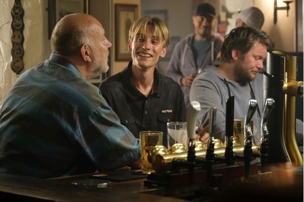 Martin Mucklowe (PAUL COOPER), Kurtan (CHARLIE COOPER), Dan (JIMMY WALKER) in This Country