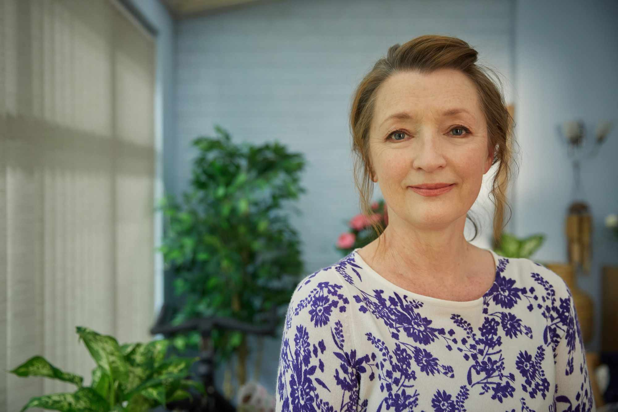 Cathy (LESLEY MANVILLE) in BBC's Mum (BBC, JG)
