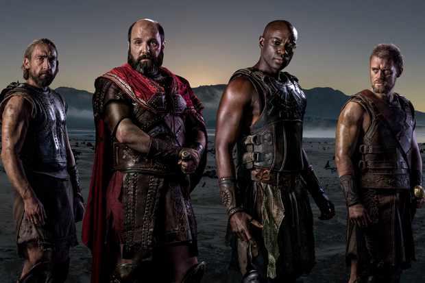 Menelaus (JONAS ARMSTRONG), Achilles (DAVID GYASI), Agamemnon (JOHNNY HARRIS), Odysseus (JOSEPH MAWLE)