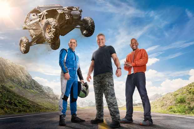 Rory Reid, Matt LeBlanc, Chris Harris pose in the new Top Gear poster