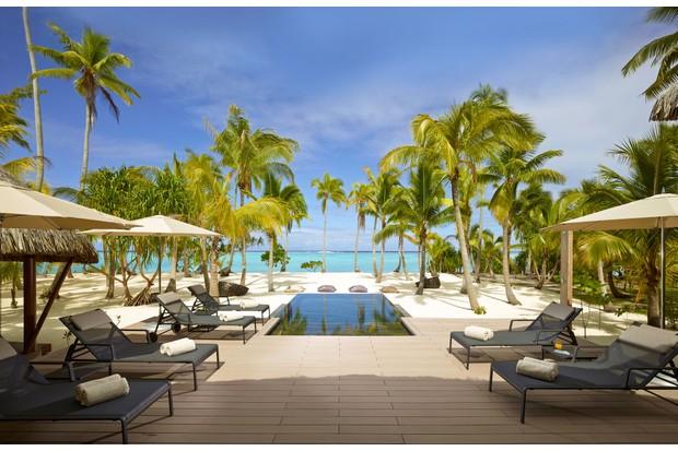 A villa pool at The Brando Hotel, French Polynesia