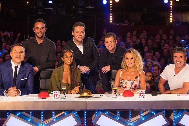 David Williams, Ant McPartlin, Alesha Dixon, Stephen Mulhern, Declan Donnelly, Amanda Holden and Simon Cowell in Britain's Got Talent 2018(Syco / Thames, JG)