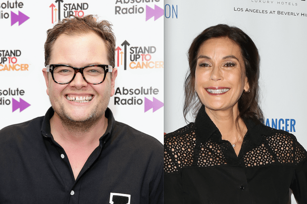 Alan Carr and Teri Hatcher