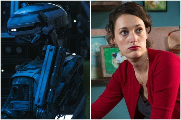Phoebe Waller Bridge in Solo: A Star Wars story (Lucasfilm, BBC, HF)