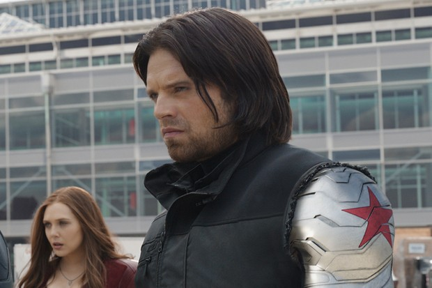 Sebastian Stan as Bukcy/ The Winter Soldier in Captain America: Civil War (Marvel, HF)