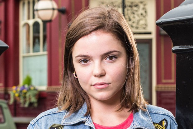 Alice Noakes as Courtney Mitchell in EastEnders