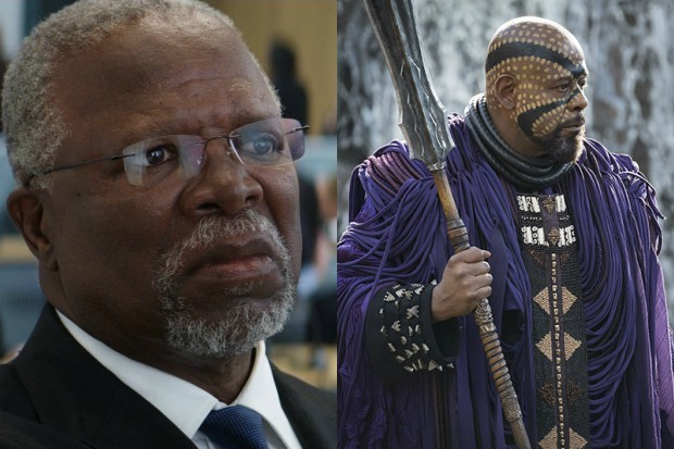 John Kani as T'Chaka in Captain America: Civil War and Forest Whitaker in Black Panther (Marvel, HF)