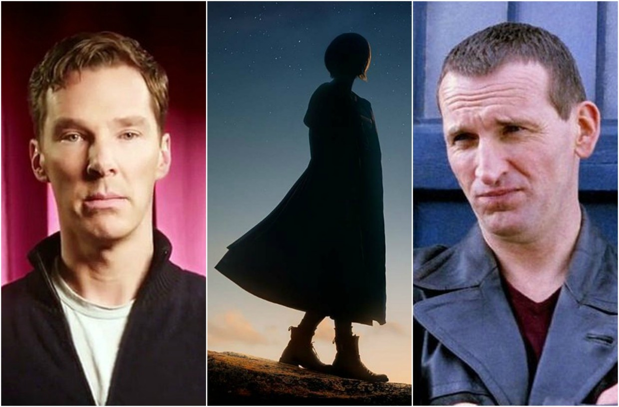 Benedict Cumberbatch, Jodie Whittaker and Christopher Eccleston