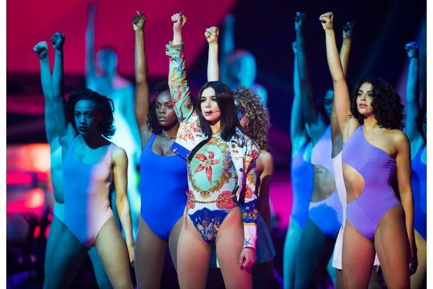 Dua Lipa at the Brit Awards