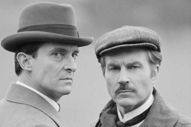 Jeremy Brett and David Burke as Holmes and Watson, 1984 (Getty, EH)