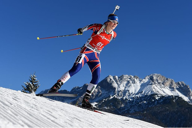 HOCHFILZEN, AUSTRIA - DECEMBER 12: Amanda Lightfoot of Great Britain competes during the women's 7,5 km sprint event during the IBU Biathlon World Cup on December 12, 2014 in Hochfilzen, Austria. (Photo by Matthias Hangst/Bongarts/Getty Images)