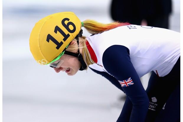Christie in tears at Sochi in 2014 (Getty, TL)